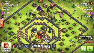 CLASH OF CLANS/Clash With P/ TH8 Push to Titan/Th8 vs TH10 3 star
