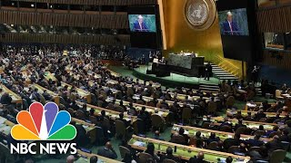 YouTube動画:Watch President Donald Trump's Full Address To The 2019 United Nations General Assembly | NBC News