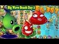 Plants vs. Zombies 2 | Strawburst Shadow Peashooter - Big Wave Beach Day 2 (Ep.387)