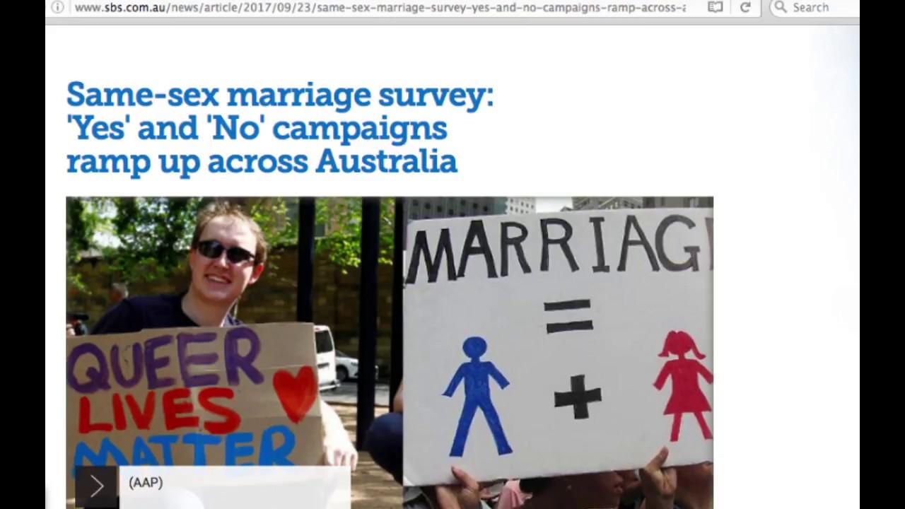same sex marriage australia speech language in Mackay