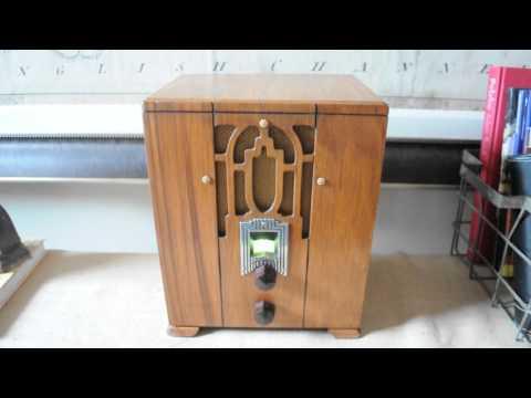 1934 Crosley 5M3 AM Tube Radio (Restored)