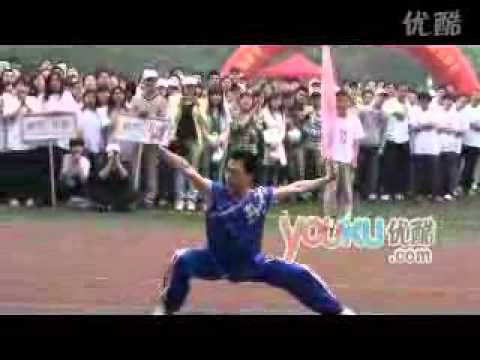 China Wuhan University students  performing martial arts