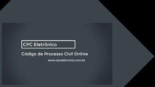 CPC Eletrônico - Código de Processo Civil Eletrônico