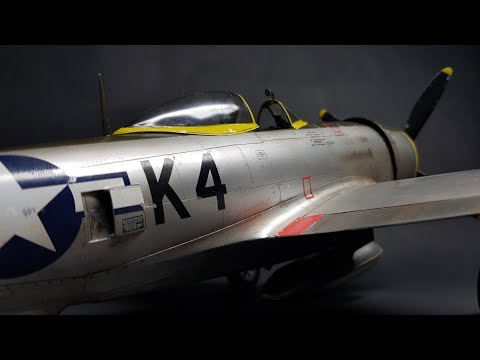 Republic P-47 Thunderbolt Eduard 1/32 plastic model time lapse build