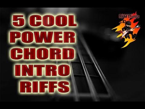 5 Cool Power Chord Intro Riffs