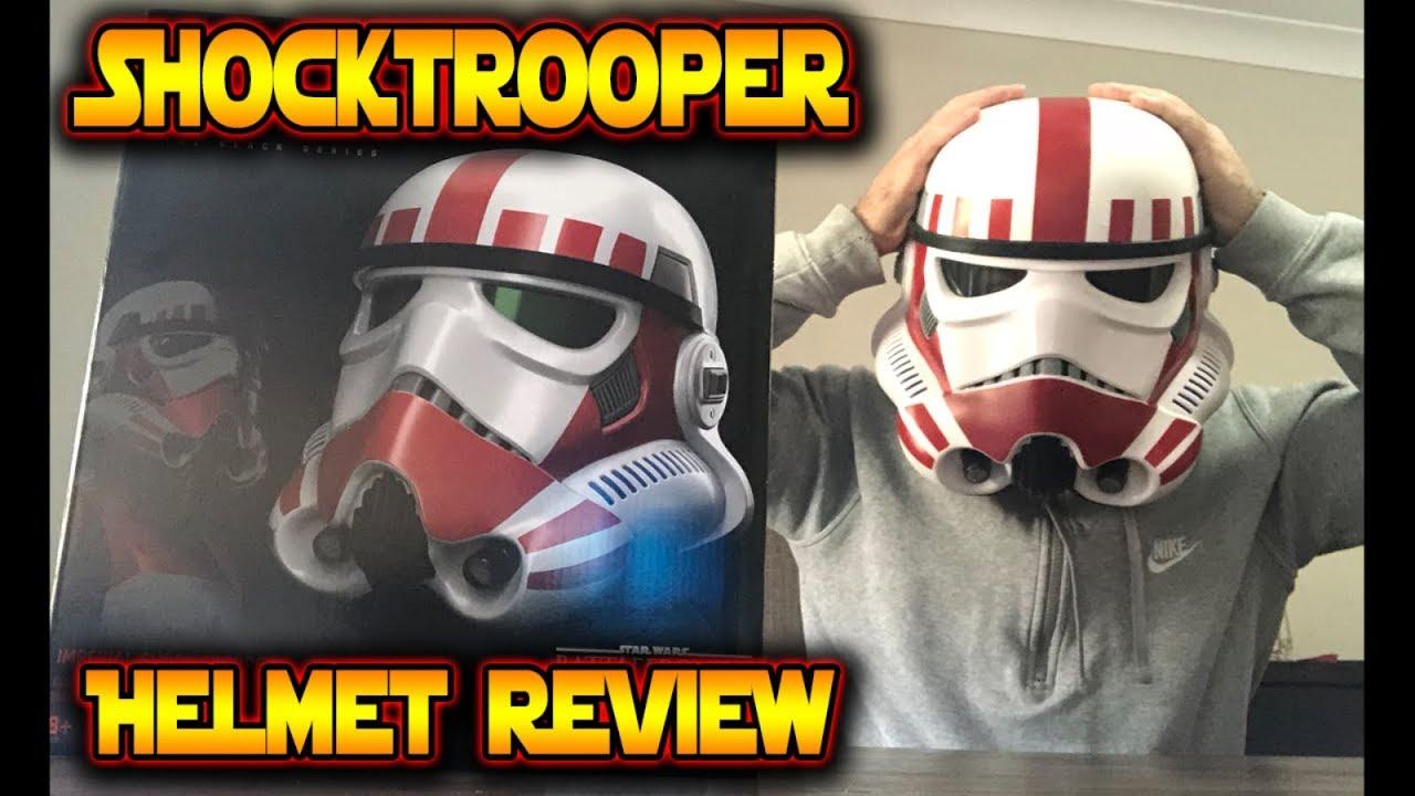 Star Wars Black Series Shock Trooper Electronic Helmet Brand New