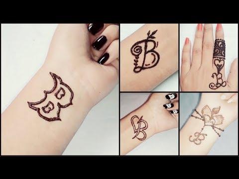 a8851acdf B letter tattoo mehndi design | B Alphabet mehndi design easy & simple