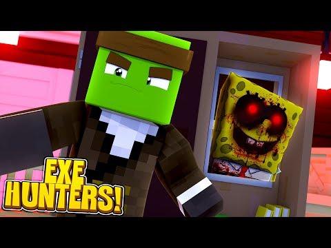 EXE HUNTERS #1 - SPONGEBOB.EXE IS BACK IN THE SCHOOL! w/TinyTurtle