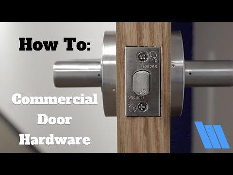 How To Install Commercial Door Hardware