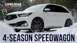 2019 Acura MDX SH-AWD A-Spec Reviewed - Sporty 3-Row Crossover #drivingsportstv