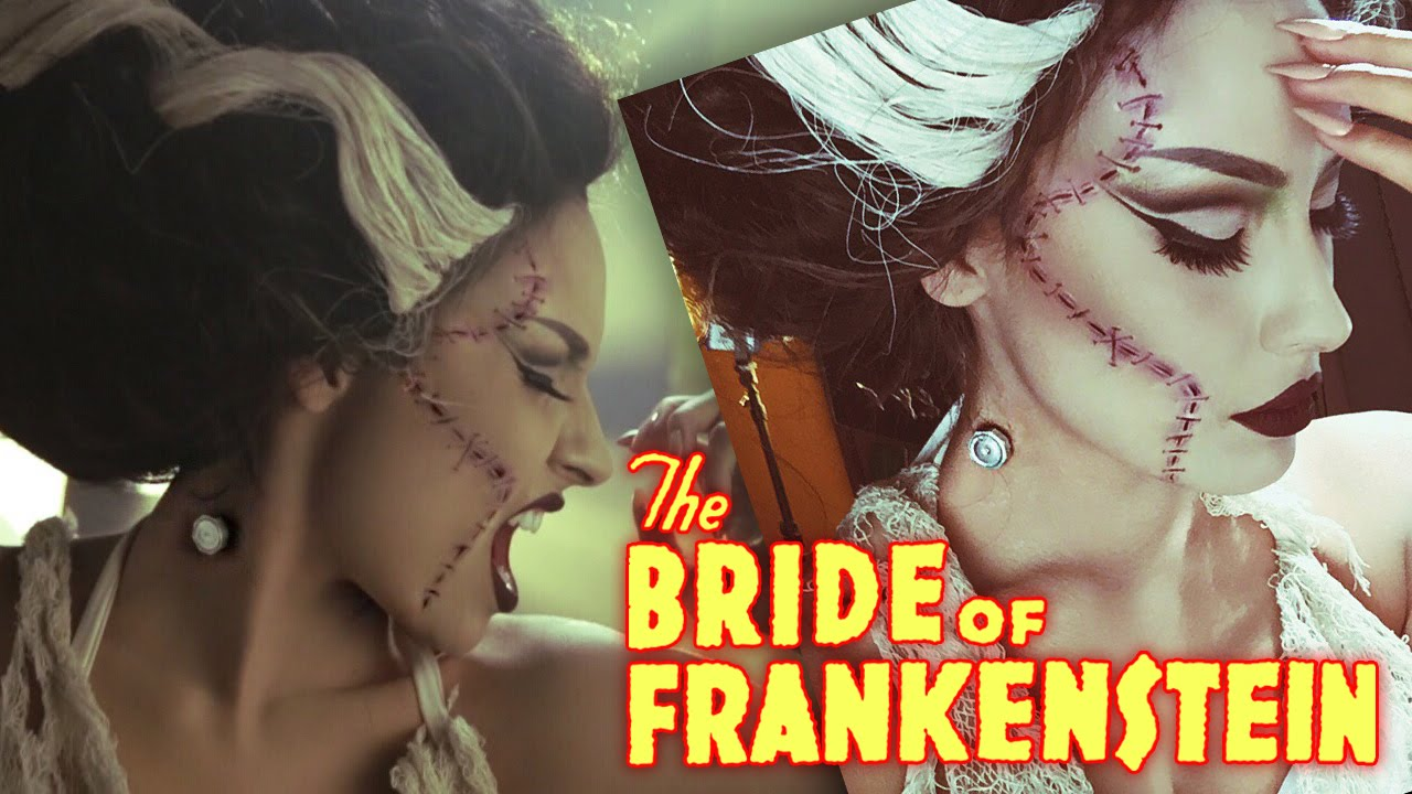 Bride Of Frankenstein Rick Baker Inspired Halloween Tutorial - YouTube
