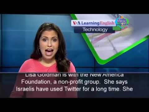 Learn English with VOA Special English - Conflict in Gaza Makes a Mark on Social Media