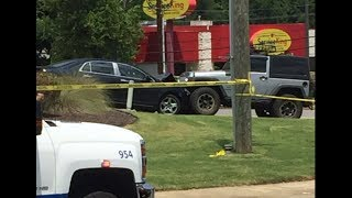 Man helps police by ramming Jeep into vehicle to stop carjacking at Chick-fil-A
