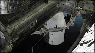 SpaceX Dragon CRS-10 Rendezvous, Grapple, & Berthing (time lapse)
