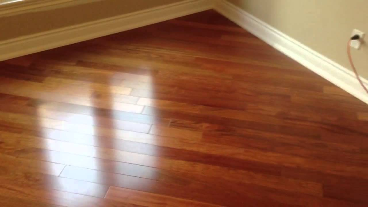 Floorama Flooring Natural Jatoba Hardwood Flooring Installed At 45 Degrees Toronto Youtube