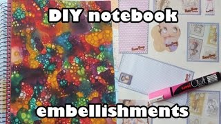 DIY notebook embellishments - back to school crafts