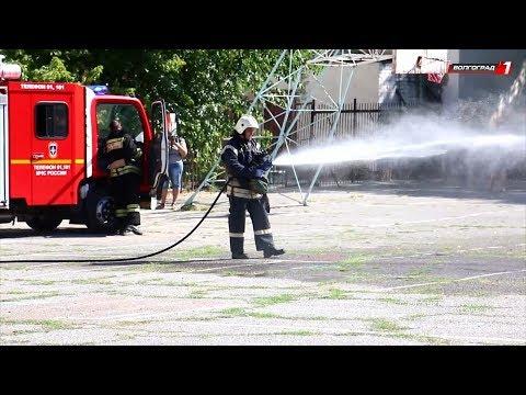 В школе № 7 Волгограда сотрудники МЧС провели противопожарные занятия
