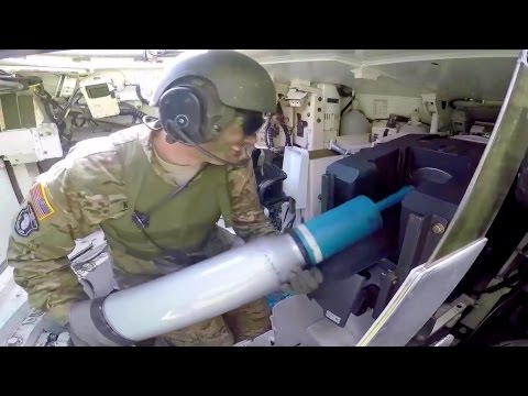 M1A2 Main Battle Tank Firing Main Gun - Interior View