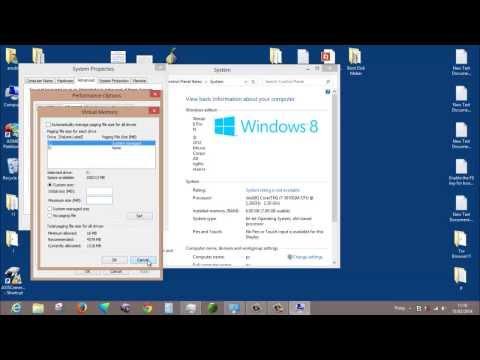 Set Up Virtual Memory Windows 7 And 8