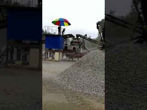 Shanghai PYM stone crusher , semi-mobile crusher plant .whatsapp: +86-13636610457