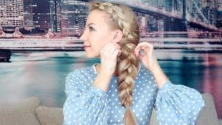 Плетение косы на бок от Estonianna - All Things Hair(Estonianna расскажет, как сделать красивую косу на один бок для длинных волос. В видео использованы продукты:..., 2015-04-14T15:39:34.000Z)