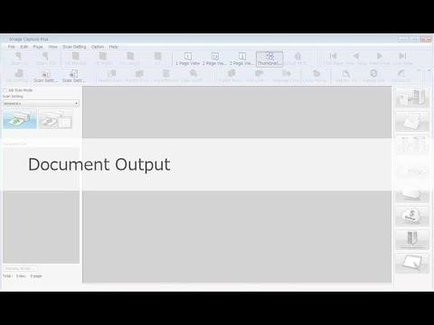 "Panasonic ""Image Capture Plus"" Demo - Document Output"