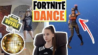 Fortnite Emotes and Dances in Real-Life , Réaction - Celina