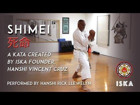 Shimei Kata, performed by Hanshi Rick Llewelyn, ISKA