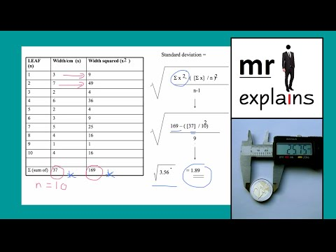 mr i explains: How to calculate Standard Deviation (with scientific applications)