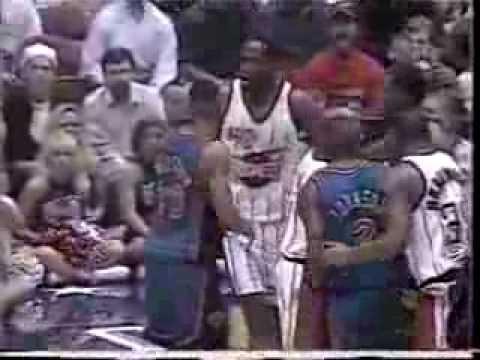1996 Patrick Ewing and Kevin Willis trash talking