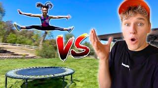 Gymnastic Challenge vs BEST 10 Year old Girl Flipper