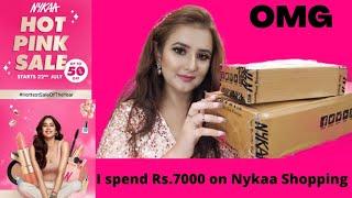 NYKAA Makeup Haul 👄💅/ 🤩I Spend Rs. 7000 on Nykaa Shopping / Nykaa Pink Sale💓 / SWATI BHAMBRA screenshot 1