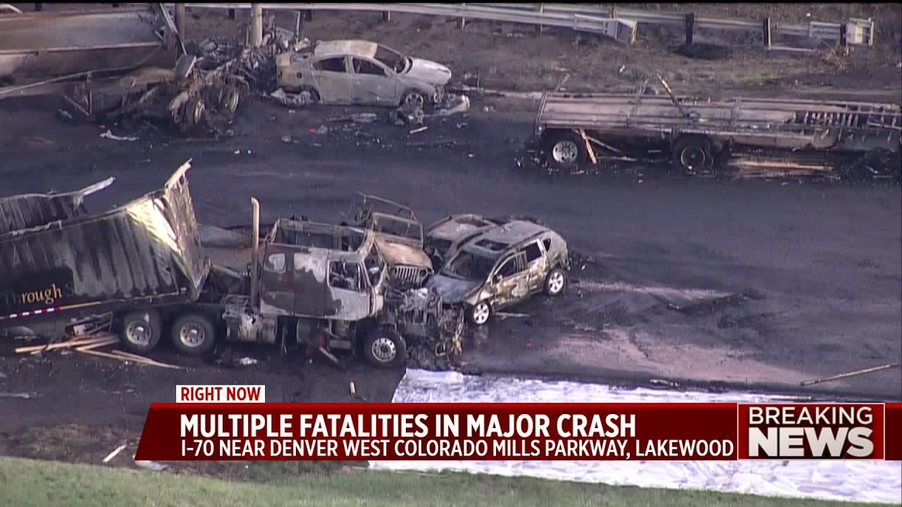 At least 4 dead in fiery I-70 crash involving 28 vehicles
