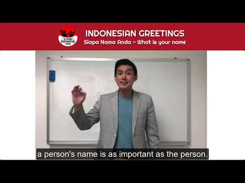 """How To Say """"What Is Your Name"""" In Bahasa Indonesia - Siapa Nama Anda"""