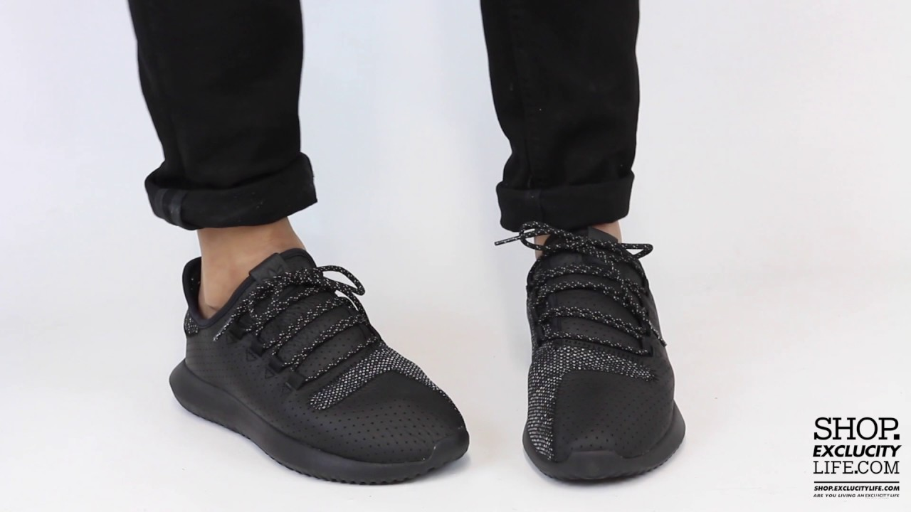 ad75c95a0984 Adidas Tubular Shadow Black Grey On feet Video at Exclucity - YouTube