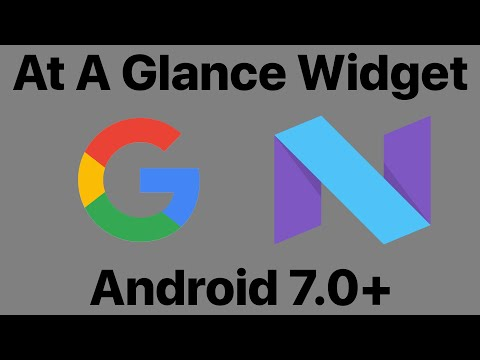 Get Google Pixel 2's At A Glance Widget Officially for