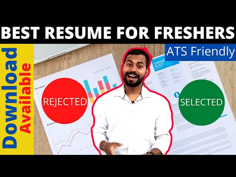 RESUME FORMAT FOR FRESHERS 2020 | Best Resume For Job | Download Resume Format