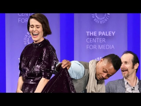 What is Cuba Gooding Jr. Doing to Sarah Paulson's Skirt? Watch Here to Find Out!
