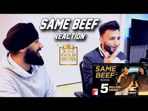 Download Lagu  Same Beef - Bohemia Ft. Sidhu Moose Wala | Byg Byrd | 2019 - REACTION / REVIEW Mp3 Free