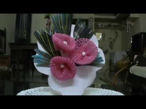 Nikshiptam how to make a bouquet from waste package of for Waste material flower making