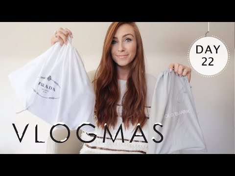 WHAT I BOUGHT MYSELF FOR CHRISTMAS | DESIGNER HAUL | MANOLO BLAHNIK & PRADA  | VLOGMAS  2017 Day 22