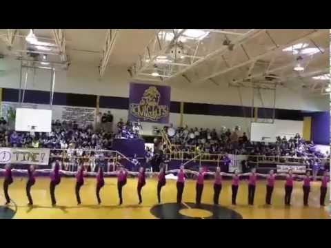 South Beauregard High School 2015/2016 Knightline dancing at Pep Rally for Jennings game 2015