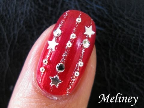 Easy Nail Art Tutorial New Years Eve Party Nails for Holidays Red Design Simple Cute Red