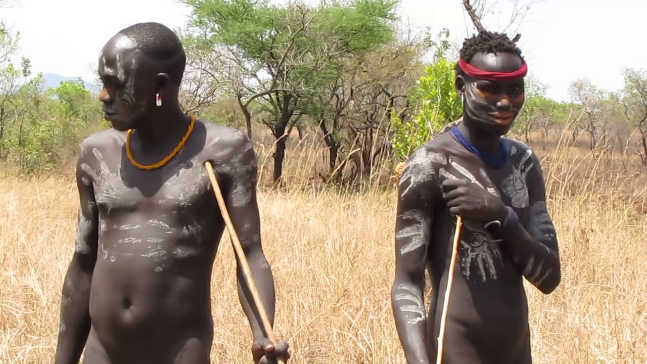african tribe man Naked
