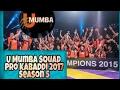 Vivo Pro Kabaddi 2017 U Mumba Team Squad Season 5 | U Mumba Full Team List First & Second Day