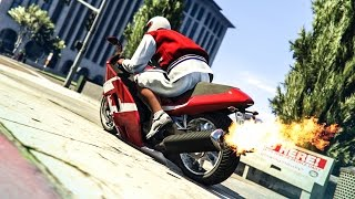 AMAZING BIKE STUNTS ! - (GTA V Stunts & Fails)