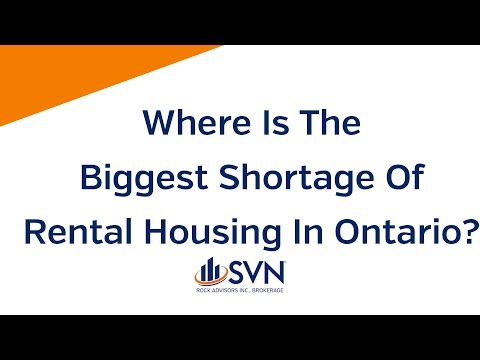 Where is the biggest shortage of rental housing in Ontario?