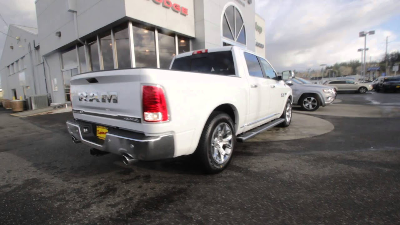 2016 dodge ram 1500 limited bright white clearcoat gs166826 mt vernon skagit youtube. Black Bedroom Furniture Sets. Home Design Ideas