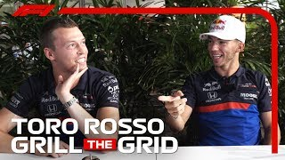 Toro Rosso's Daniil Kvyat And Pierre Gasly! | Grill The Grid 2019