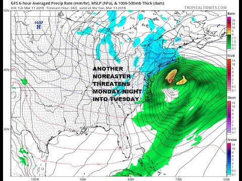 3RD NOREASTER IN 10 DAYS THREATS HEAVY SNOW FOR COASTAL NORTHEAST NEW NAM MODEL LIVE